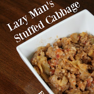 Lazy Man's Stuffed Cabbage - Freezer to Crockpot Meal.