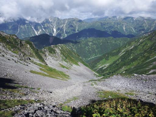 ゴーロを横切る登山道