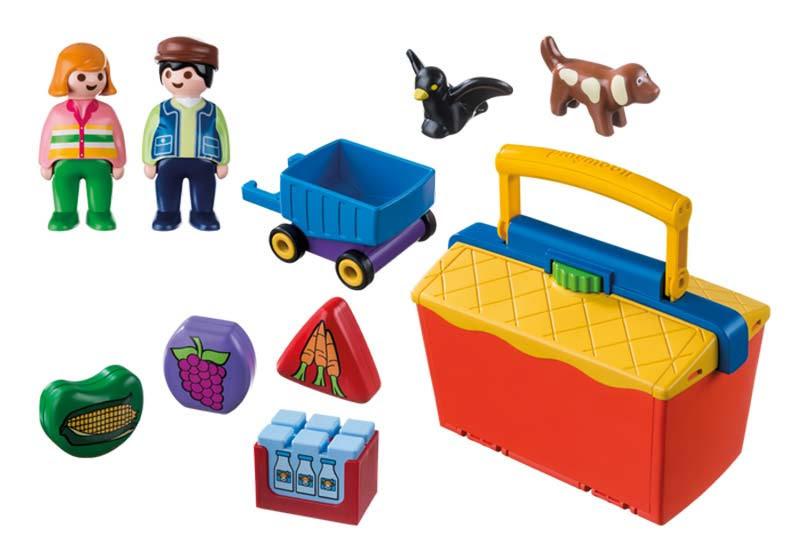 Contenido real de Playmobil® 9123 Mercado Maletín