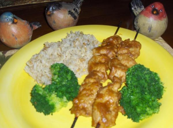 Chicken Peanut Butter Satay Skewers Recipe