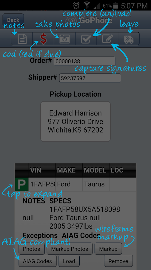 GoPhore Auto Carrier Software- screenshot