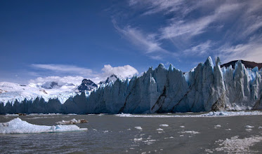 Photo: Another boat ride took us to the foot of Perito Moreno glacier