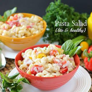 Pasta Salad {Lite & Healthy}.