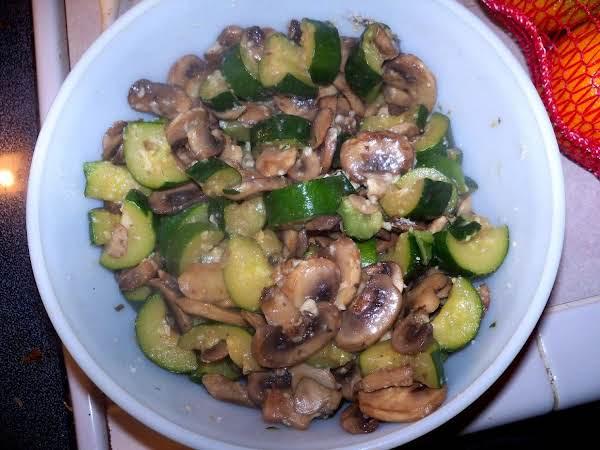 Zucchini Mushroom Parmesan Recipe