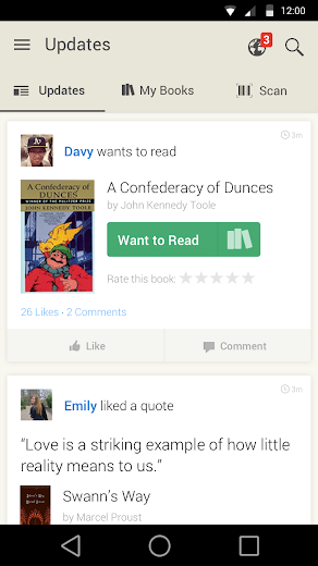Screenshot 0 for GoodReads's Android app'