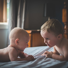 Evening catch-ups by Carley Reed - Babies & Children Children Candids ( love, home, friends, relax, family, boys, play, chat, baby, toddler, talk )
