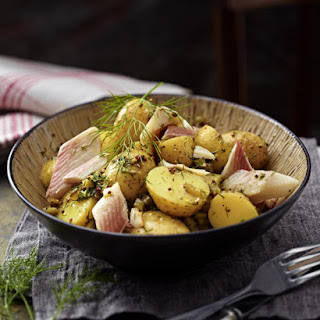 Warm Potato Salad with Hot Smoked Trout.