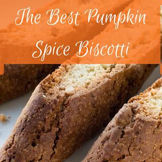 The Best Pumpkin Spice Biscotti