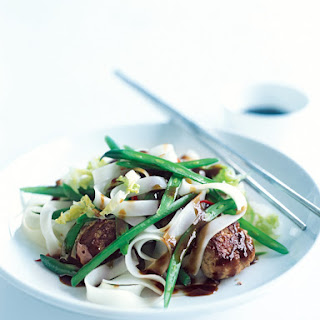 Pork And Ginger Meatball Stir-fry.