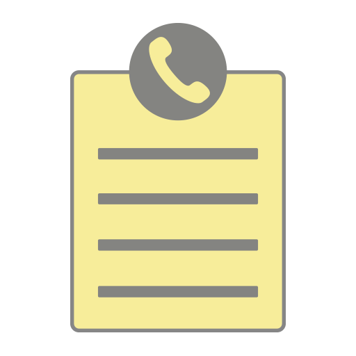 Notes with Caller ID Icon
