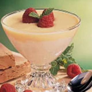 Marshmallow Cream with Custard Sauce