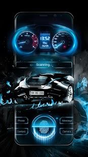 Fingerprint Lock Screen Speed Car - náhled