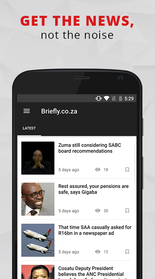 South Africa News - BRIEFLY- screenshot
