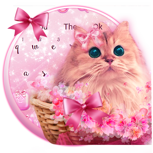 Cute Pink Kitty Love Keyboard Theme Android APK Download Free By Glossy Themes Launcher
