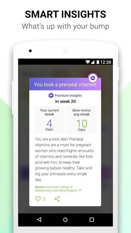 Pregnancy Tracker Glow Nurture- screenshot