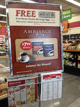 Photo: Right when you walk in they let you know the Ambance coffee deals
