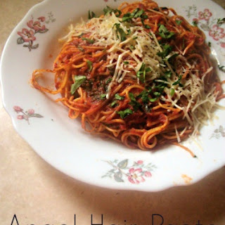 Angel Hair Pasta with Neapolitan Sauce #SundaySupper