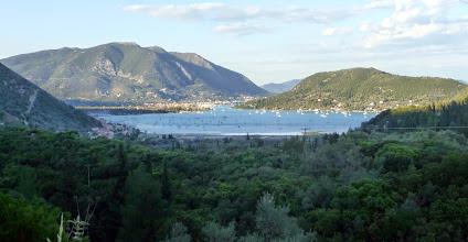 Photo: Uitzicht over Vlicho Bay naar Nydri