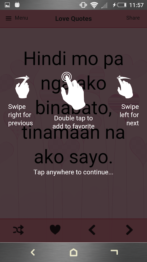Tagalog Love Quotes- screenshot