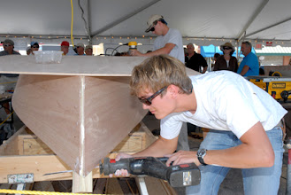 """Photo: """"Build a Boat in a Day"""" Challenge during Wooden Boat Show weekend"""