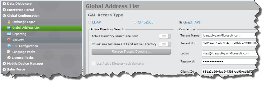 Azure AD, LDAP, EWS