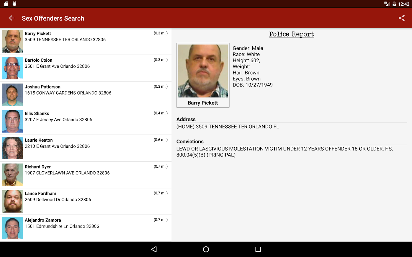 Sex Offenders Search- screenshot