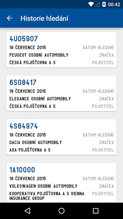 SPZ ČR- screenshot