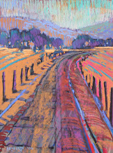 Photo: Old Sand Creek Road, pastel by Nancy Roberts, copyright 2014. Private collection.