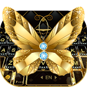 App Lux Gold Butterfly Keyboard Theme APK for Windows Phone
