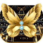 Lux Gold Butterfly Keyboard Theme
