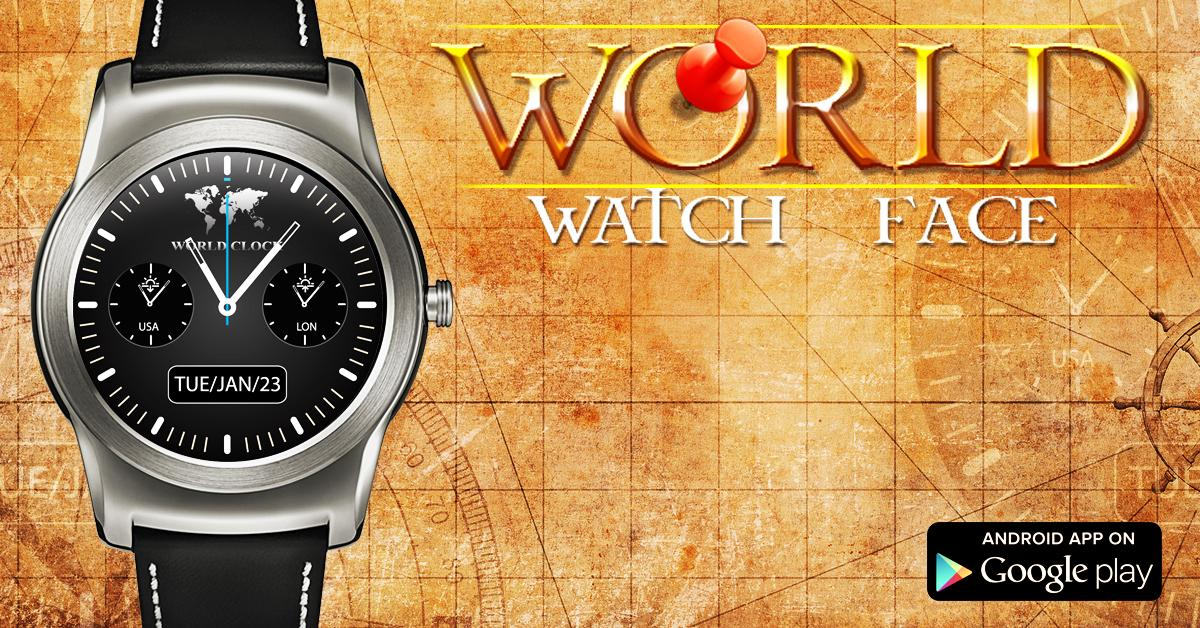 World Time Analog Watch Face- screenshot