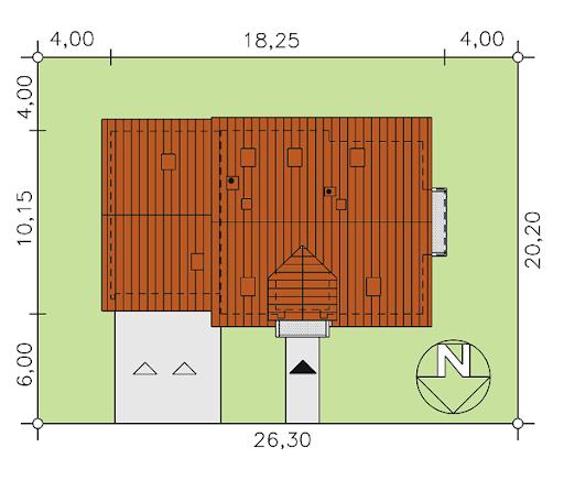 BW-27 z garażem dwustanowiskowym - Sytuacja