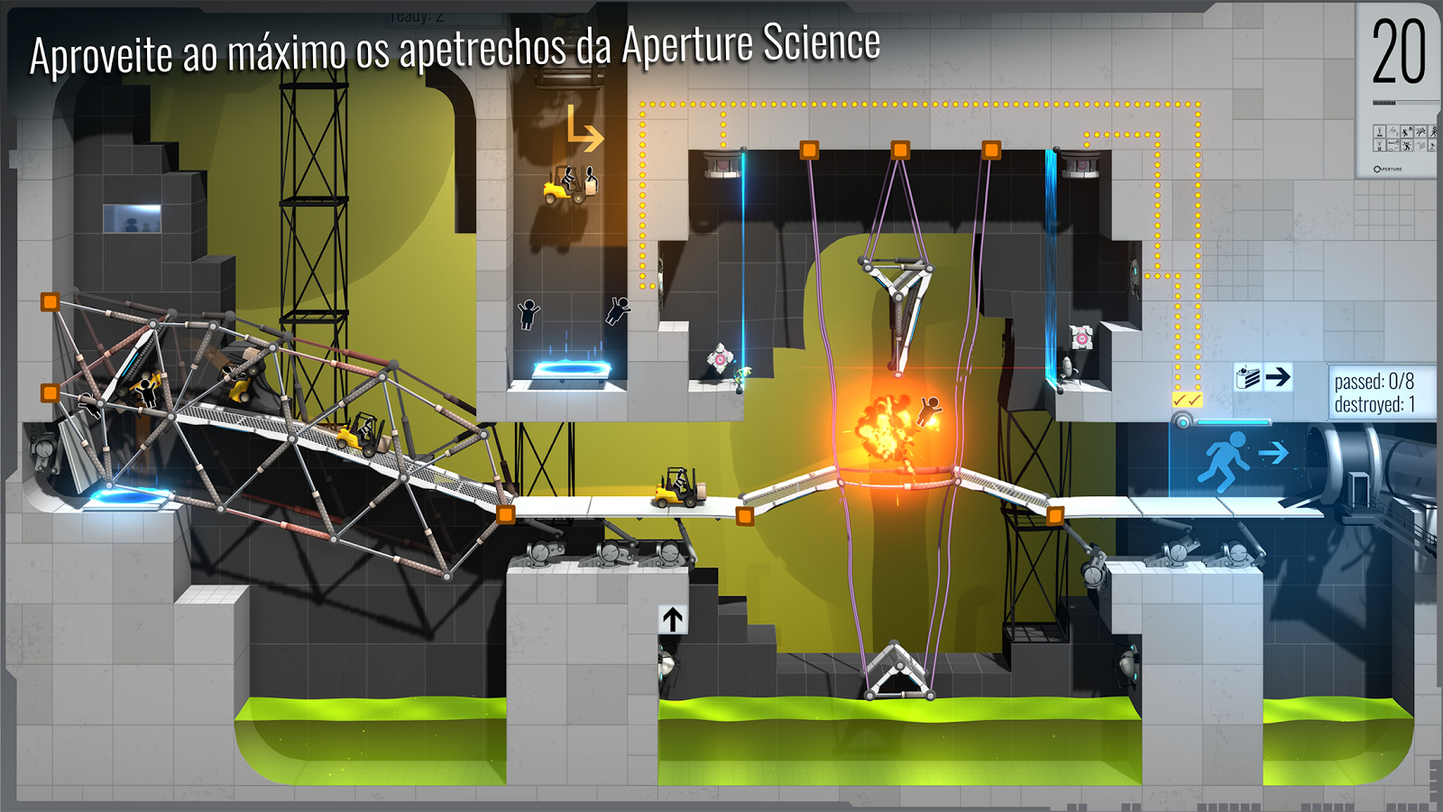 Bridge Constructor Portal: captura de tela