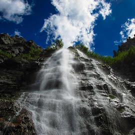 bridal veil falls by Jason Murray - Nature Up Close Water ( utah, beautiful, awesome, bridal veil falls, waterfalls, moving water, waterscape, waterfall, water,  )