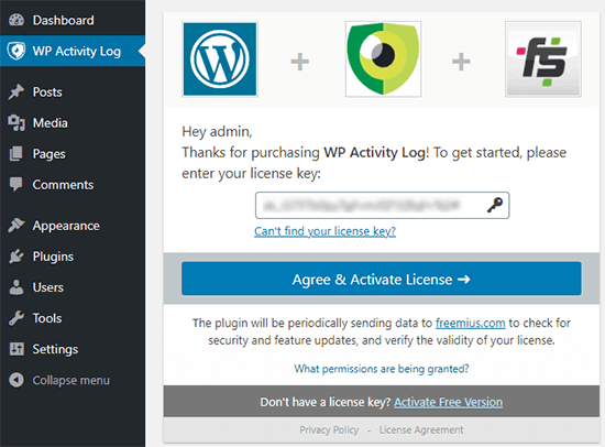 how to secure my wordpress website - Use an activity log