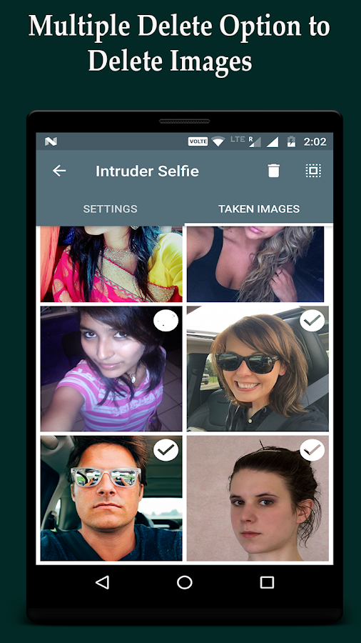 Intruder Selfie Alert- screenshot