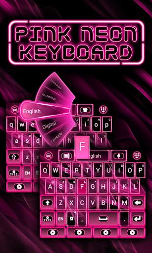 粉紅色霓虹燈鍵盤