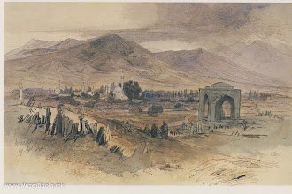 Photo: 1c Edward Lear, Битола 20 септември 1848 година. Панорама на Битола од Турските гробишта