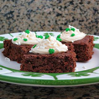 Frosted Irish Cream Brownies