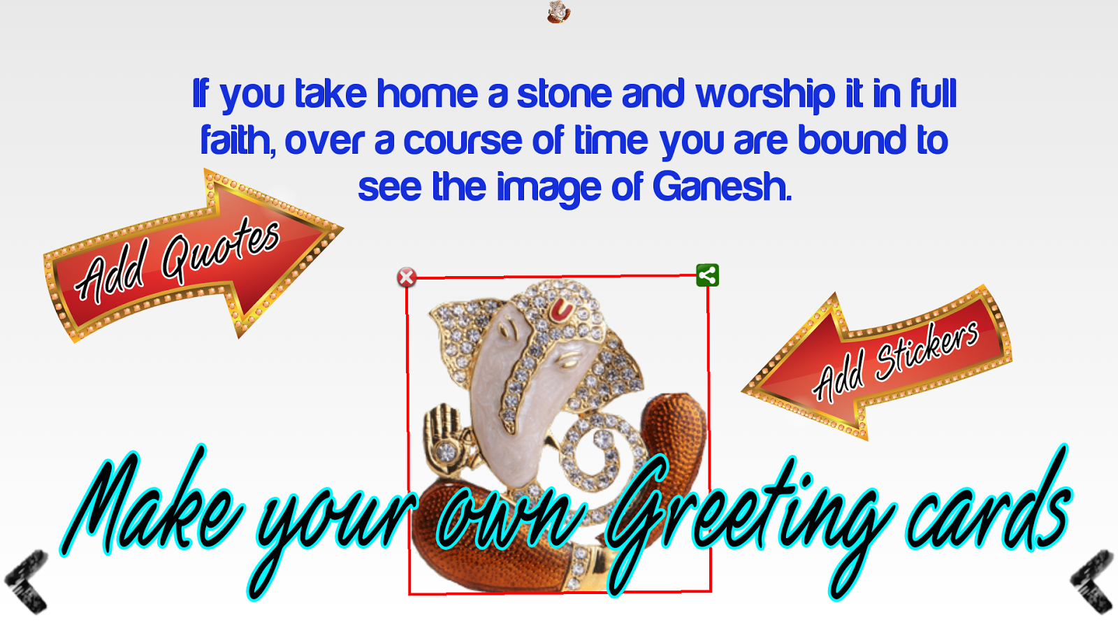 Ganesh chaturthi greeting card android apps on google play ganesh chaturthi greeting card screenshot kristyandbryce Image collections