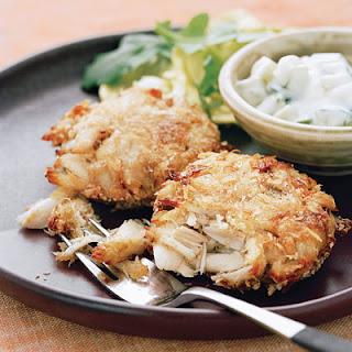 Crab Cakes with Indian Flavors.