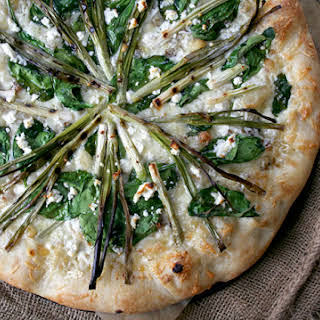 Spinach Pizza With Feta Cheese Recipes.
