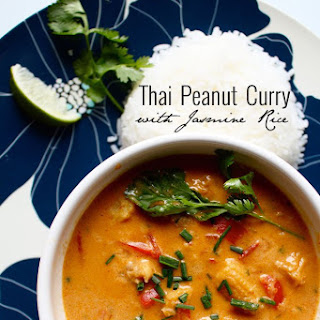 Thai Peanut Curry with Jasmine Rice
