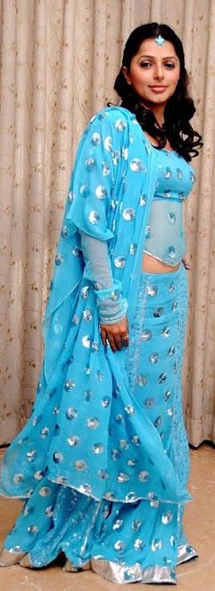 Bhumika Chawla in blue dress, Bhumika Chawla actress