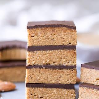 Chocolate Almond Butter Bars (Paleo + Vegan).
