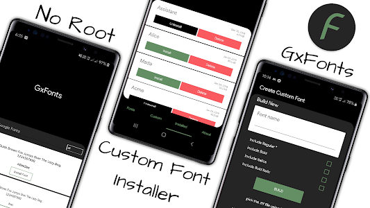 GxFonts - Custom fonts for Samsung Galaxy 1.7 (Pro)