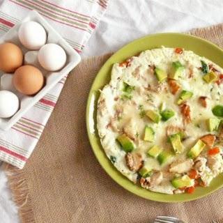 Chicken and Fresh Veggie Omelette