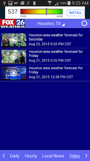 Houston Weather - FOX 26 Radar  screenshots 5