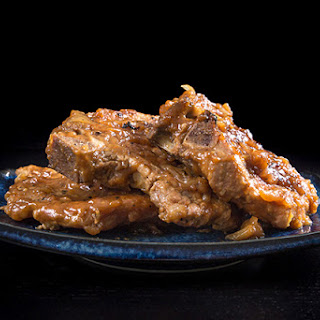 Maple Dijon Mustard Pork Chops in Pressure Cooker
