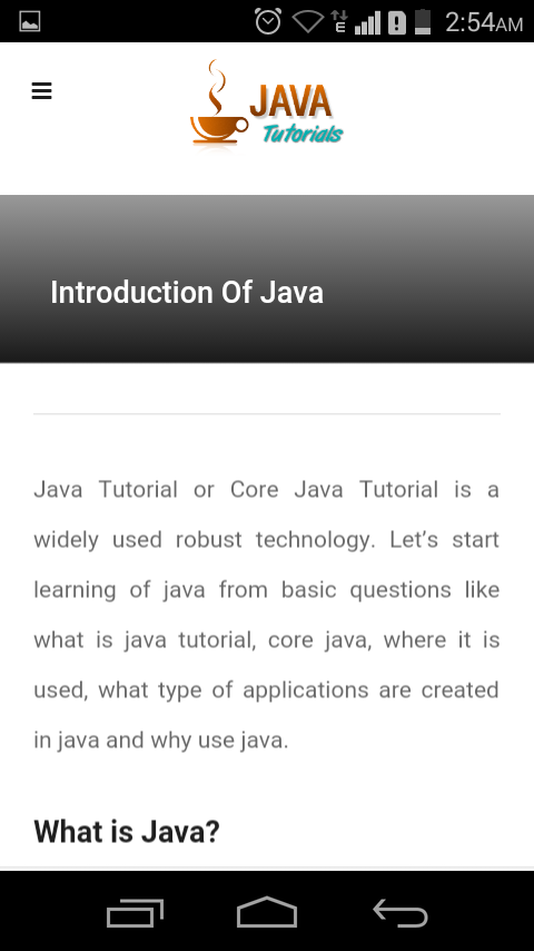 Java Tutorial|Java|Core Java- screenshot